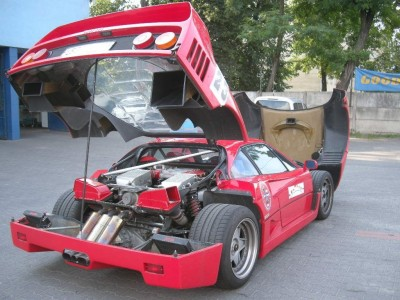 Zdjęcie naprawy szyb w Ferrari w naszym warsztacie w Warszawie